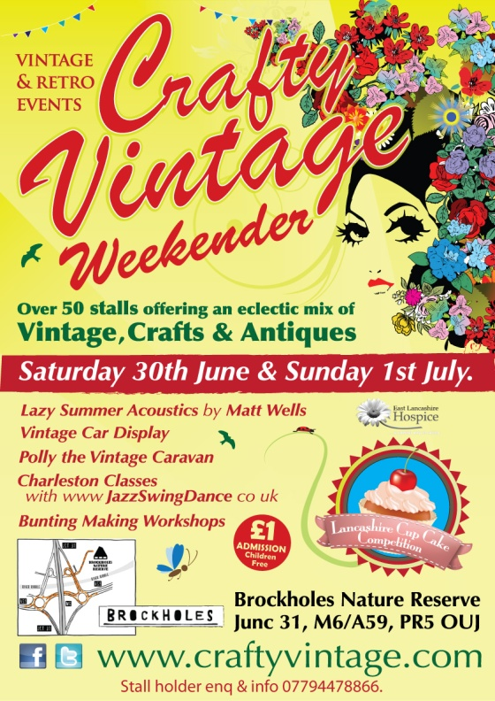 Crafty Vintage Fair Brockholes Poster